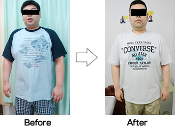 Kさんダイエット開始から2ヶ月後の様子